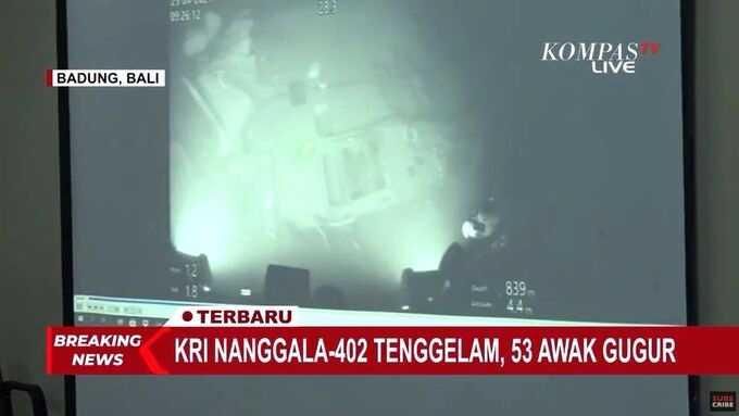 KRI Nanggala-402 filmades på botten av en undervattensdrönare på 839 meters djup.
