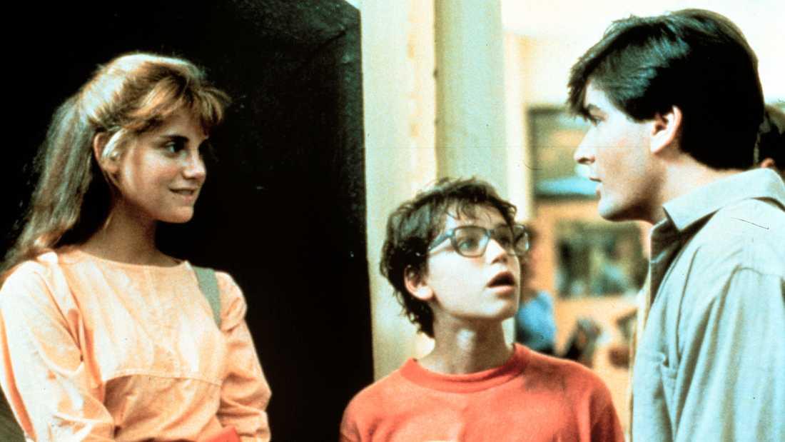 """Scen u rfilmen """"Lucas"""", från vänster Kerri Green, Corey Haim och Charlie Sheen."""