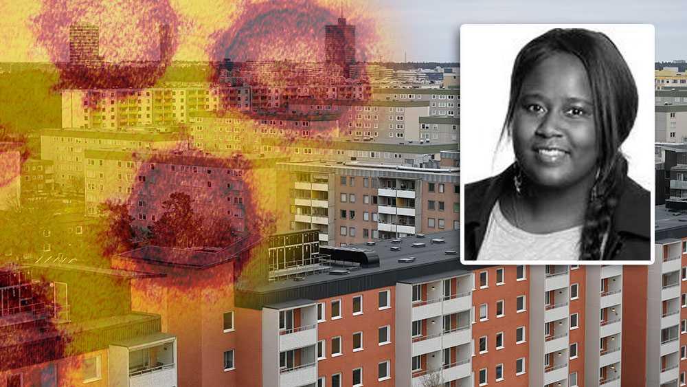 Vi kan se hur spridningen är stor i bland annat Spånga och Kista. Många som bor i förorten rör sig dock runtom i Stockholm precis som alla andra. Om vi inte tänker som en enhet nu kan konsekvenserna för hela samhället bli ännu mer förödande, skriver Madeleine Opira. Bilden är ett montage.