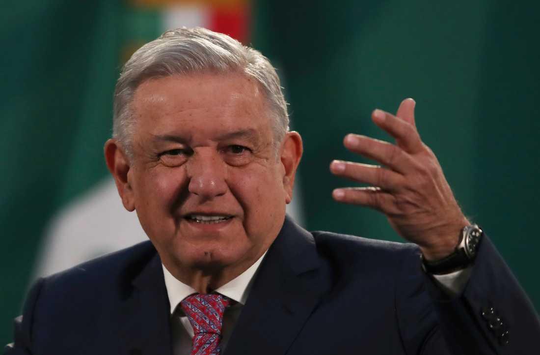 Mexikos president Andrés Manuel López Obrador. Arkivbild.