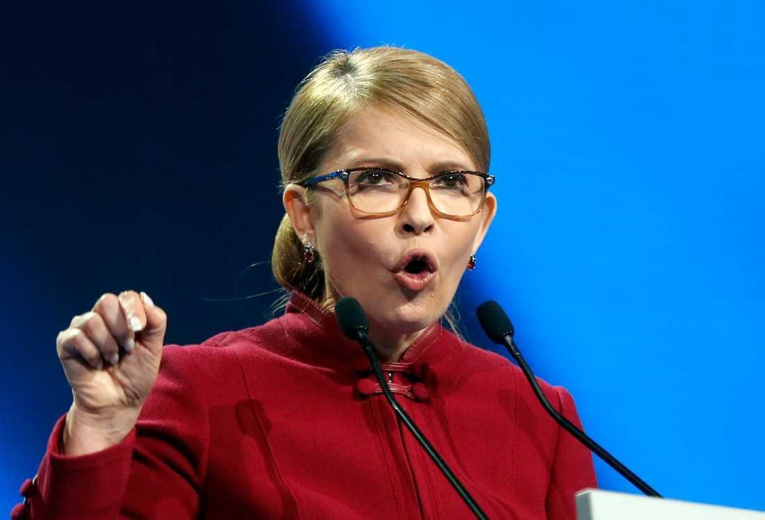 Det snarlika namnet är en kupp orkestrerad av presidenten för att förvirra väljarna, hävdar Julia Tymosjenko. Arkivbild.