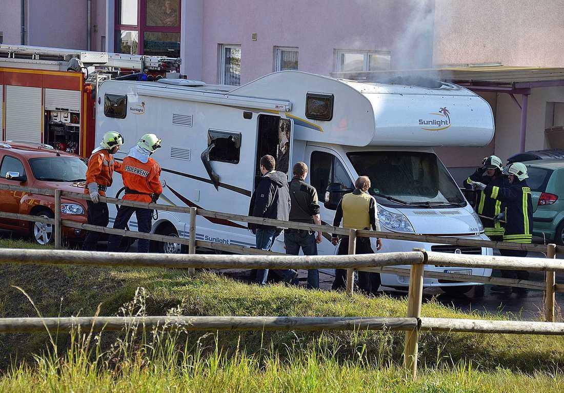 Uwe Mundlos och Uwe Böhnhardt hittades i den här husvagnen i Eisenach.