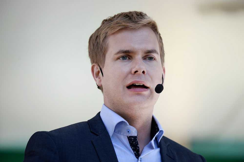 Gustav Fridolin (MP) under Almedalsveckan 2014.
