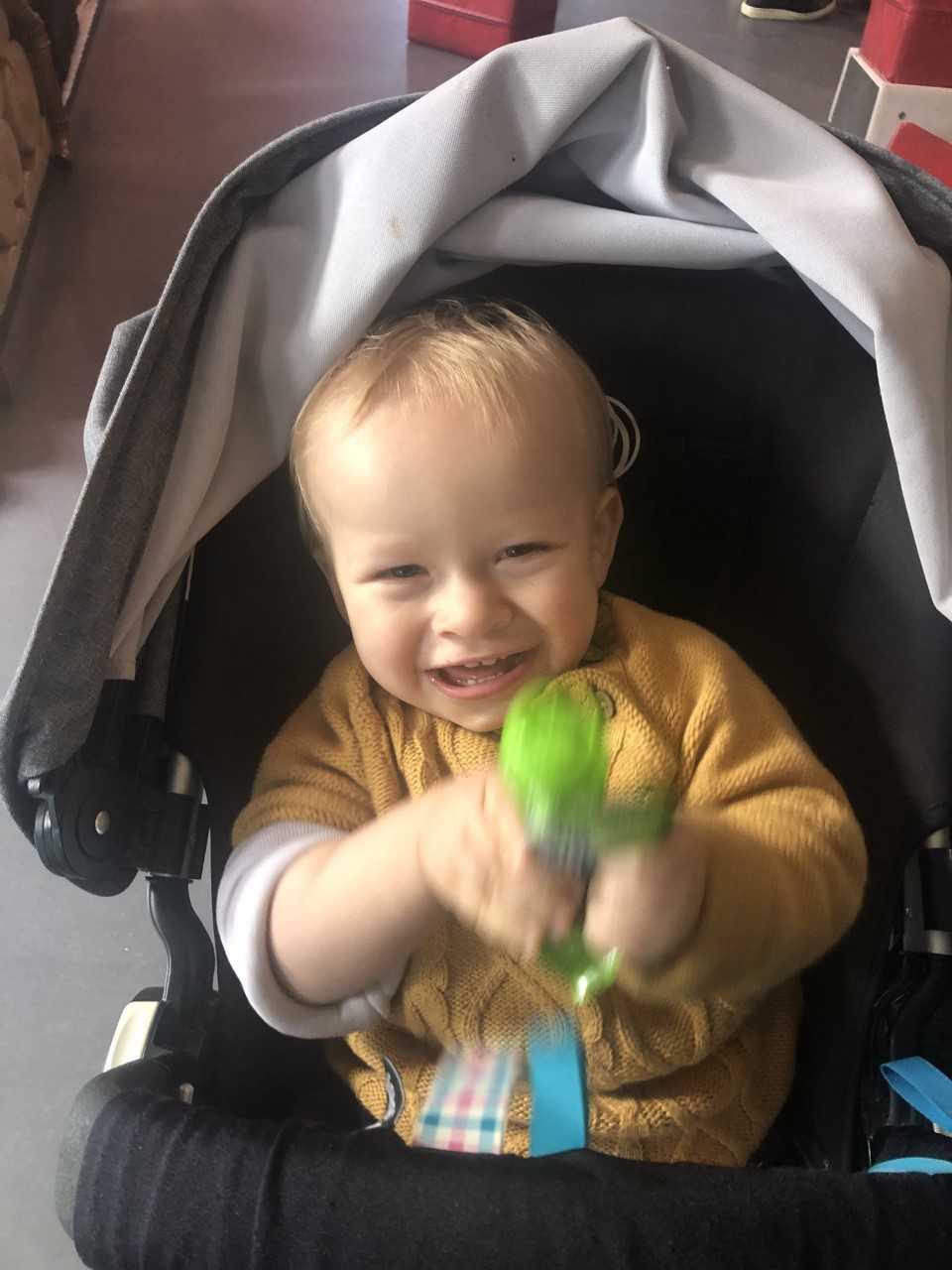 När Tim var två dagar gammal fick han opereras.