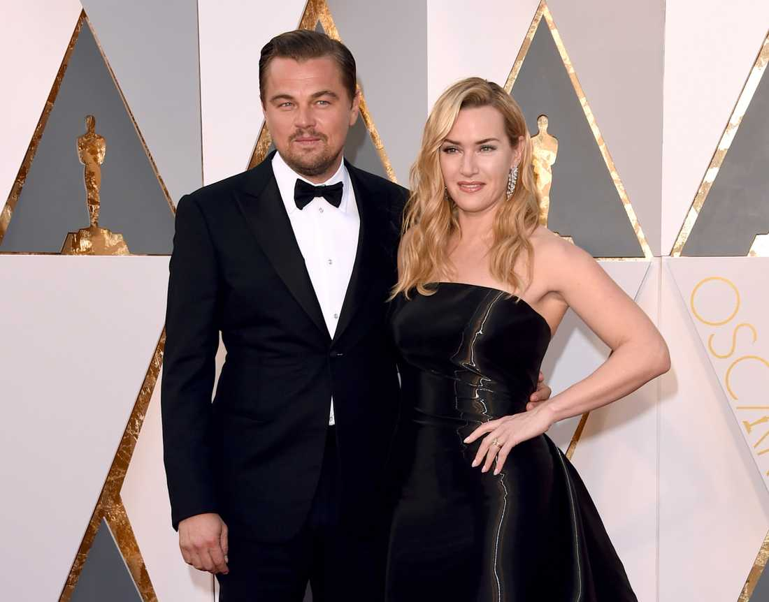 På röda mattan poserade Leonardo DiCaprio och Kate Winslet tillsammans.
