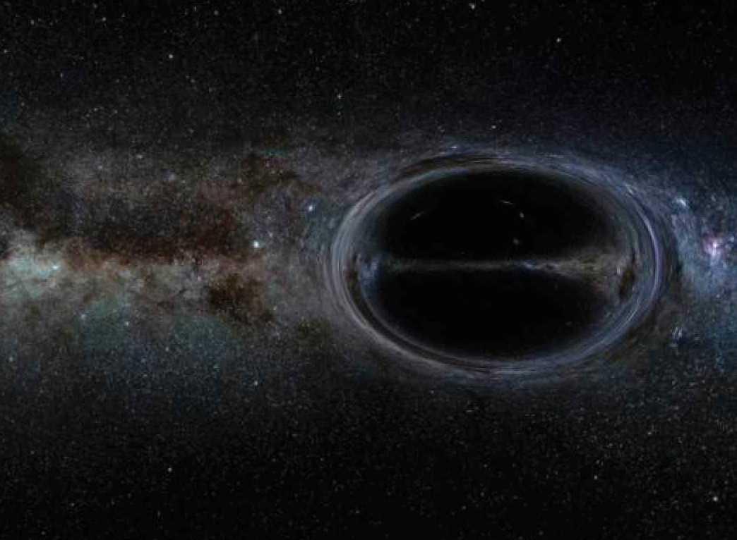 Bild 3. En fullt utvecklas warpbubbla. Bubblan fungerar genom att krympa rumtiden framför sig och expandera den bakom sig. Det får bubblan att röra sig (som en surfare på havet) i ljusets hastighet samtidigt som skeppet står stilla inuti. Då skulle, enligt Alcubierres teori, skeppet inte förstöras. Teorin har aldrig bevisats vara genomförbar, men det kan förändras om Nasas upptäckt visar sig vara korrekt.  Men det finns fortfarande stora frågetecken, bland annat hur warpbubblan ska hålla sin form när den uppnår ljusets hastighet.