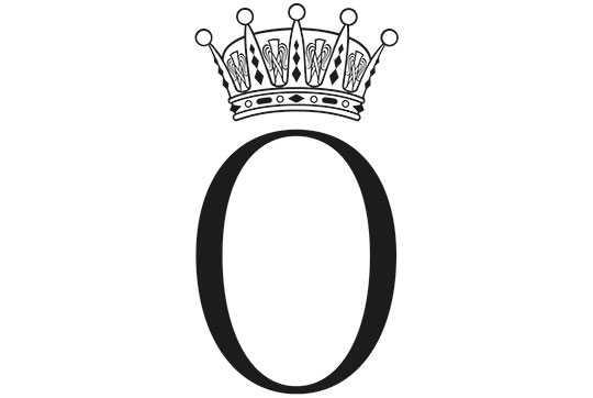 Prins Oscars monogram.