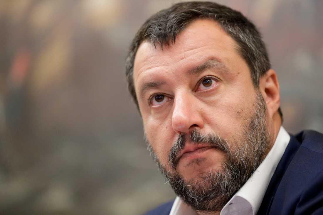 Det antagna dekretet är en seger för Italiens inrikesminister Matteo Salvini. Arkivbild.