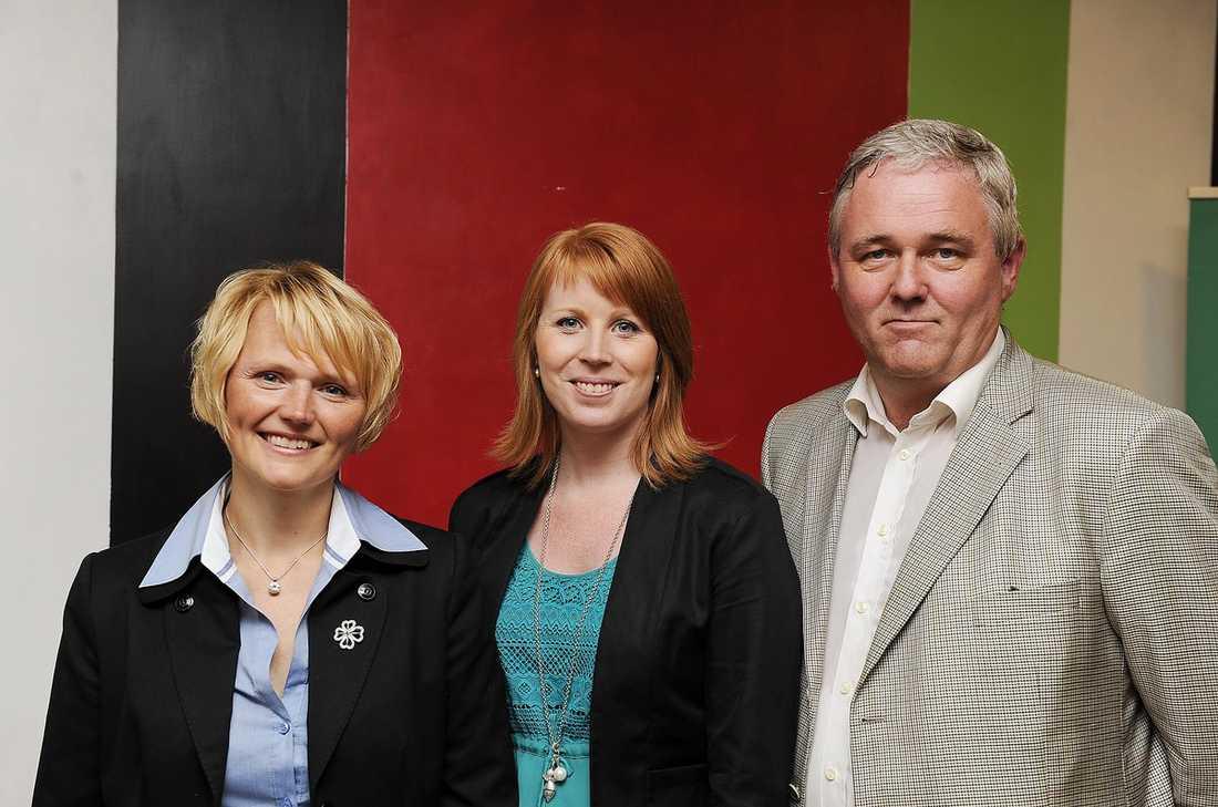 Kandidaterna Anna-Karin Hatt, Annie Lööf och Anders W Jonsson.