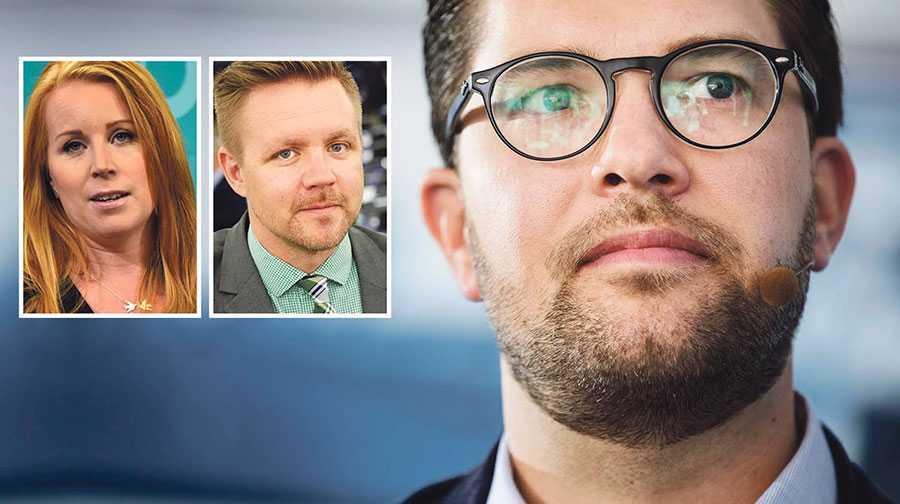 Jimmie Åkesson tar inte hoten mot det öppna, rättssäkra och toleranta Europa på allvar, skriver Annie Lööf  och Fredrick Federley.