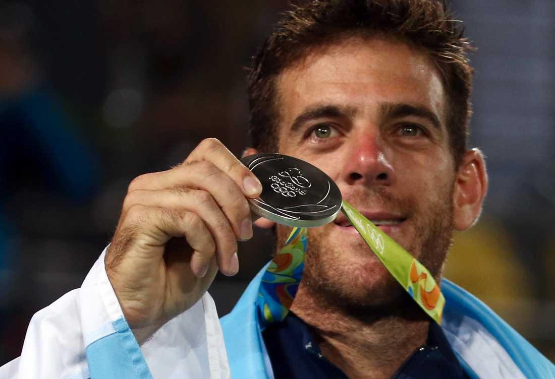 Juan Martin del Potro med sitt OS-silver i Rio.