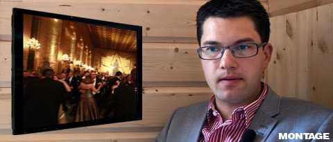 Får se festen på TV Jimmie Åkesson (SD) är den enda av riksdagens partiledare som inte får gå på Nobelfesten. Fel värderingar är Nobelkommiténs motivering.