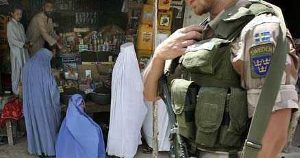 Svensk soldat i Afghanistan.