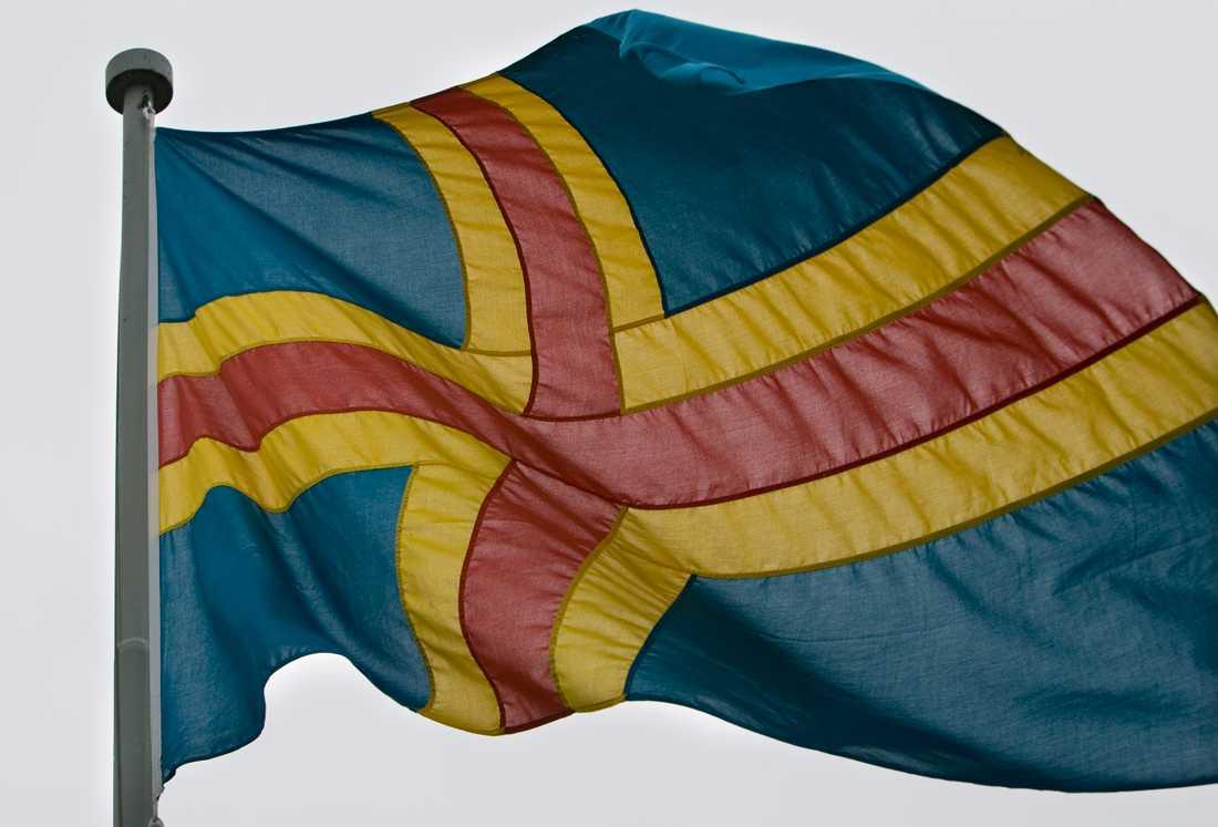 Ålands flagga. Arkivfoto.