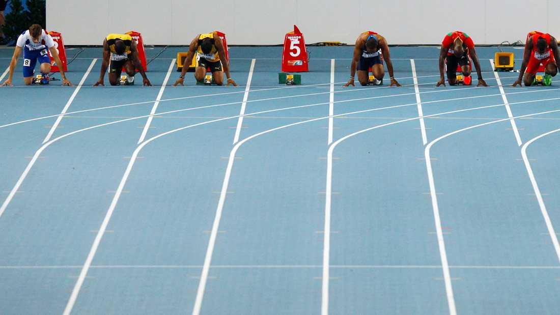 De andra i startfältet fick samla sig fort för att springa finalen – utan Bolt.