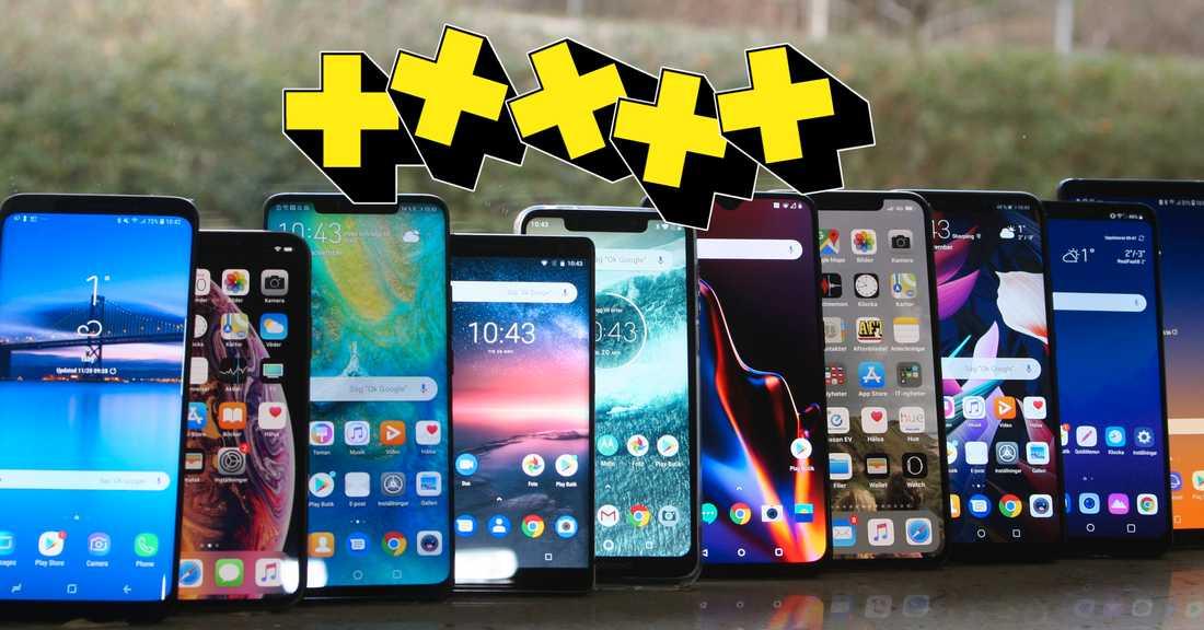 bästa mobil 2018