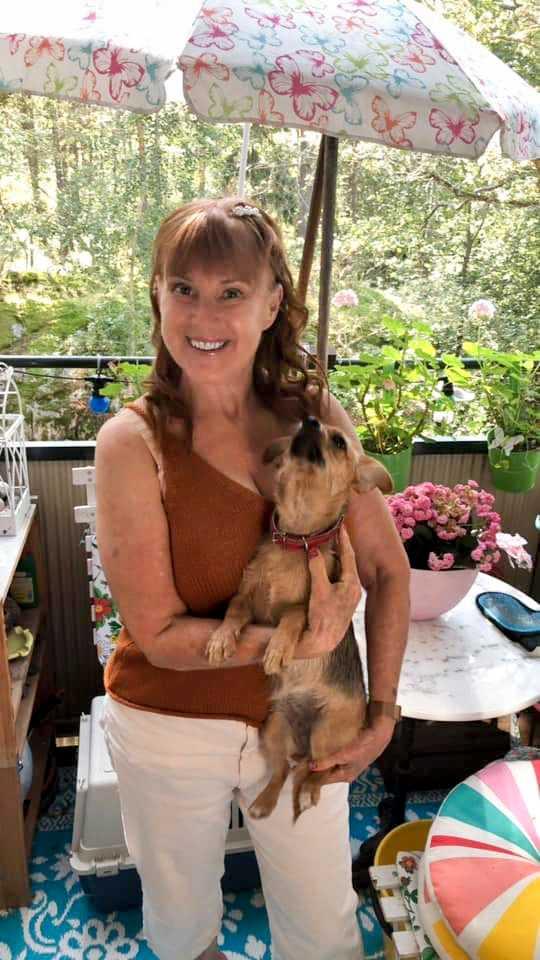 Ewa-Lotta Berg, som bor i Nerja i Spanien.