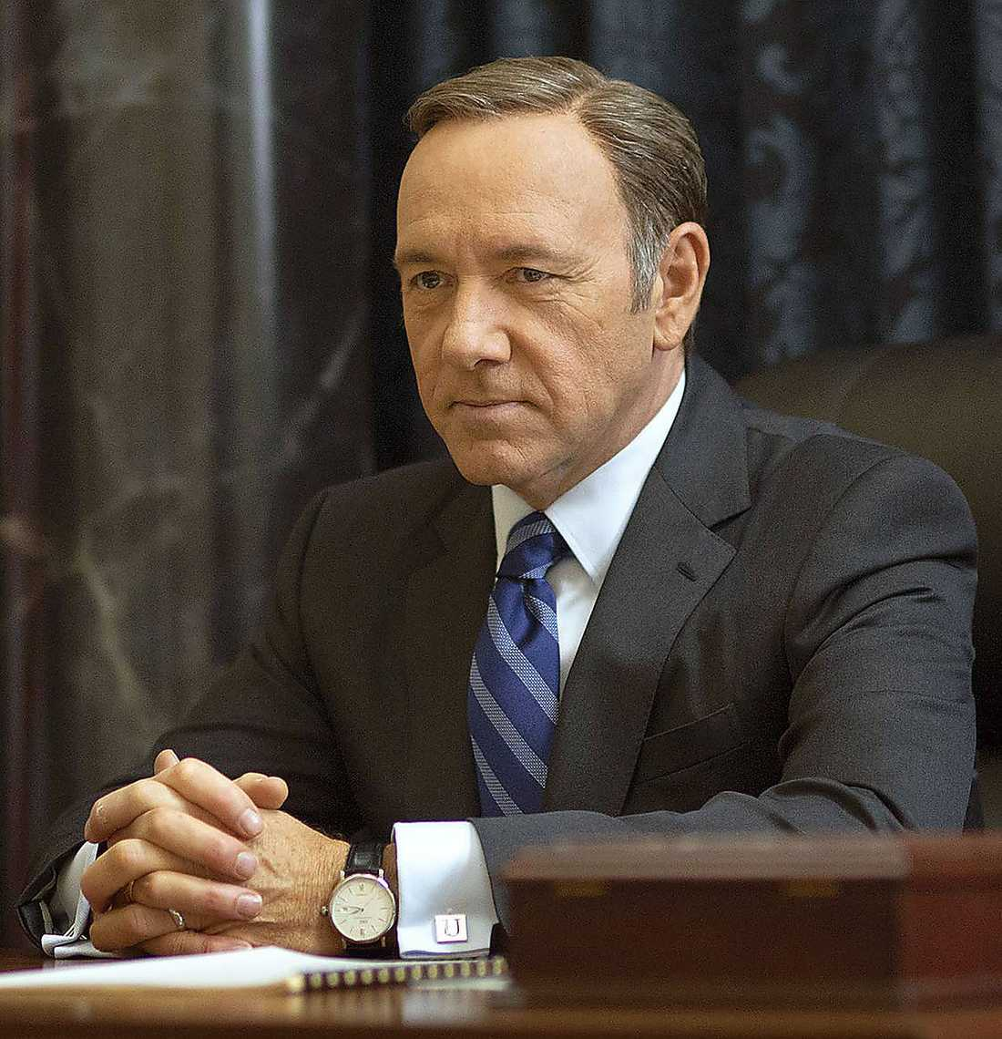 "Kevin Spacey som Frank ­Underwood. i ""House of Cards""."