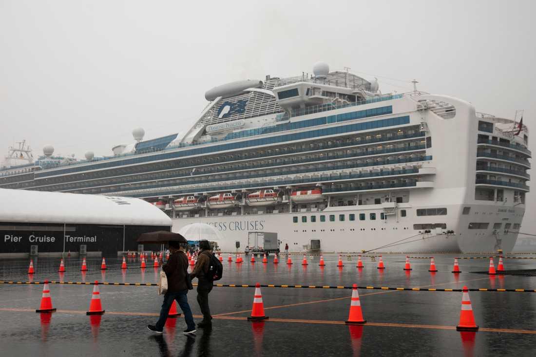 Kryssningsfartyget Diamond Princess har satts i karantän.