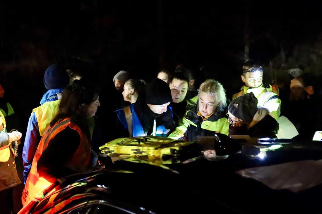 Många frivilliga deltar i sökandet efter Wilma.