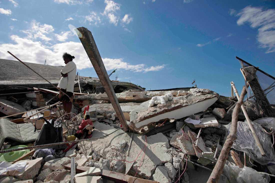 Det var i samband med hjälparbete efter jordbävningen i Haiti som sexköpen ska ha gjorts. Arkivbild.