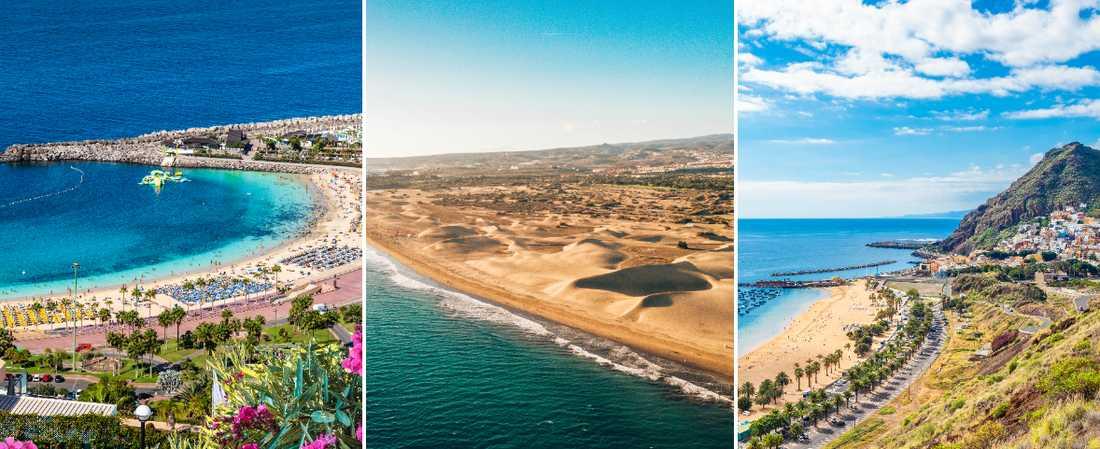 Det finns många vackra stränder på Kanarieöarna.