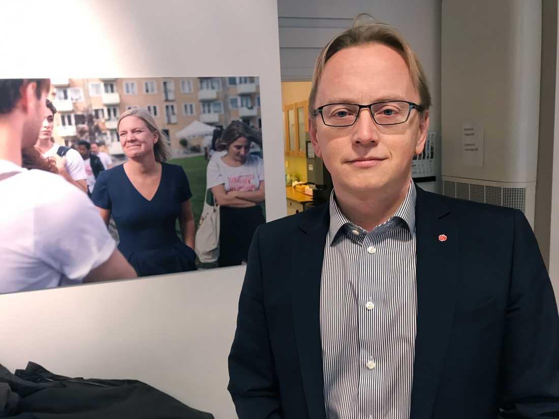 Fredrik Olovsson, Socialdemokraternas ekonomisk-politiska talesperson i riksdagen. Arkivbild.