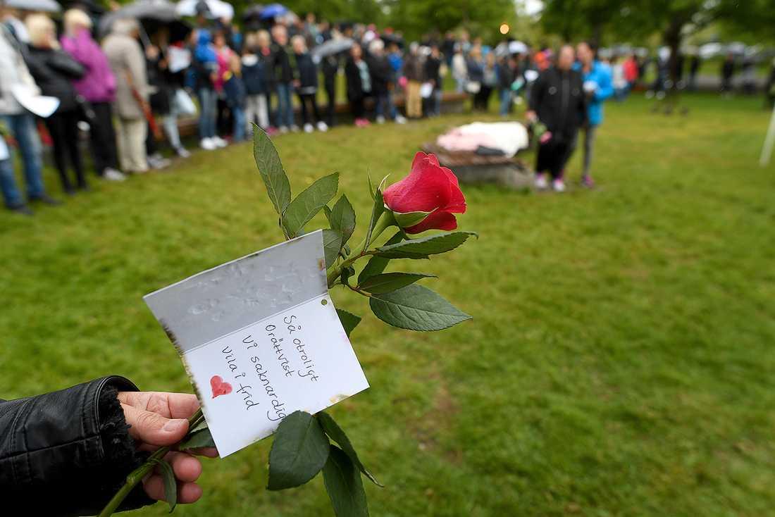 Släkternas och vänneras minneshögtid i Härnösand idag.