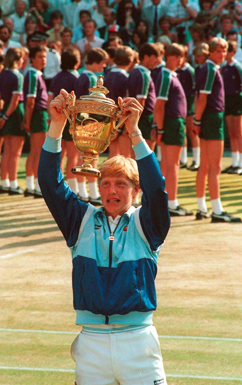 Boris Becker vann Wimbledon tre gånger och var i final ytterligare fyra gånger.