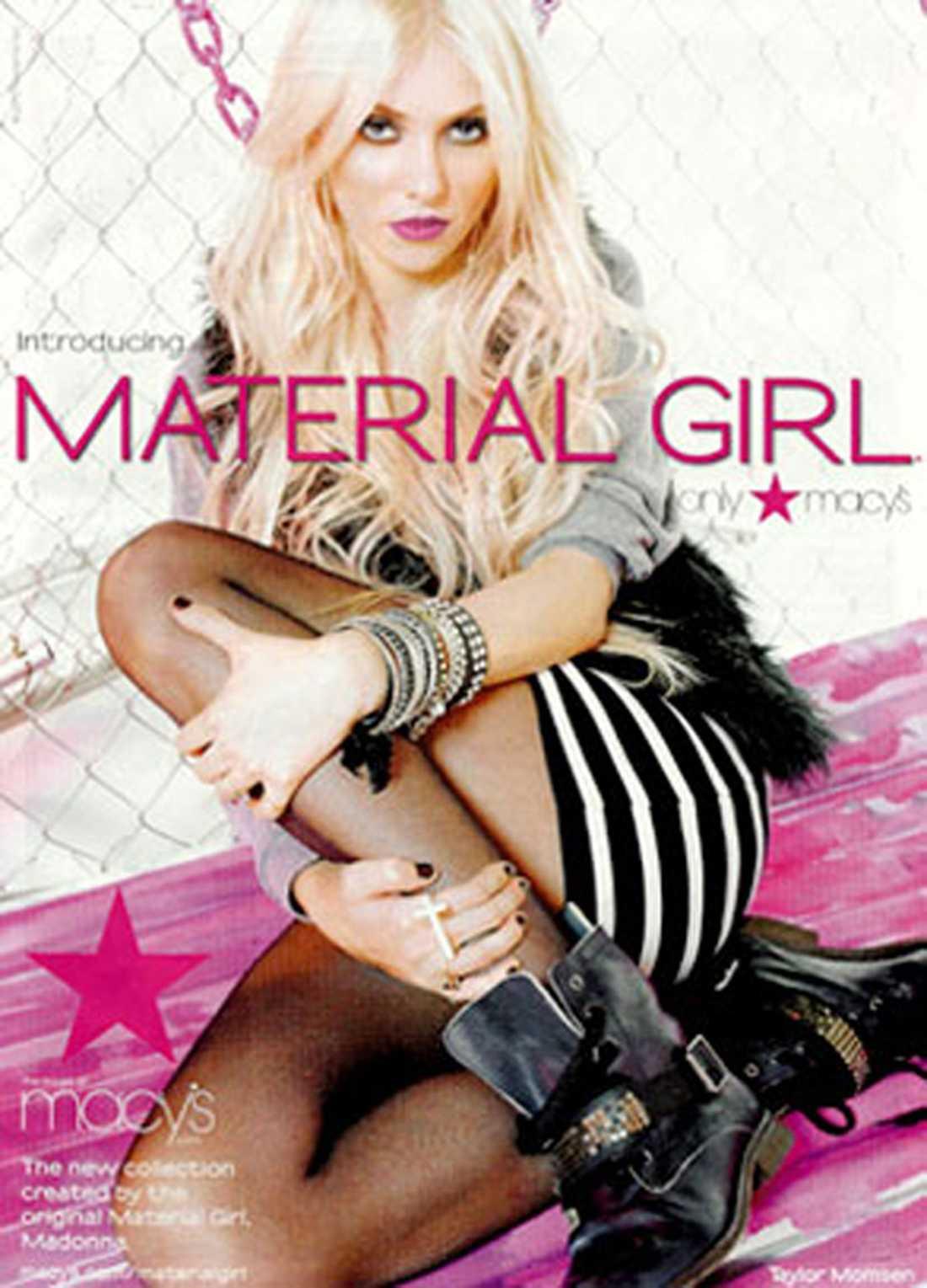 """""""Gossip Girl""""-stjärnan Taylor Momsen är nya ansiktet utåt för Madonna och dottern Lourdes klädmärke """"Material Girl""""."""