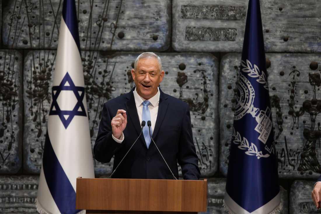 Benny Gantz leder Blåvita alliansen i Israel.