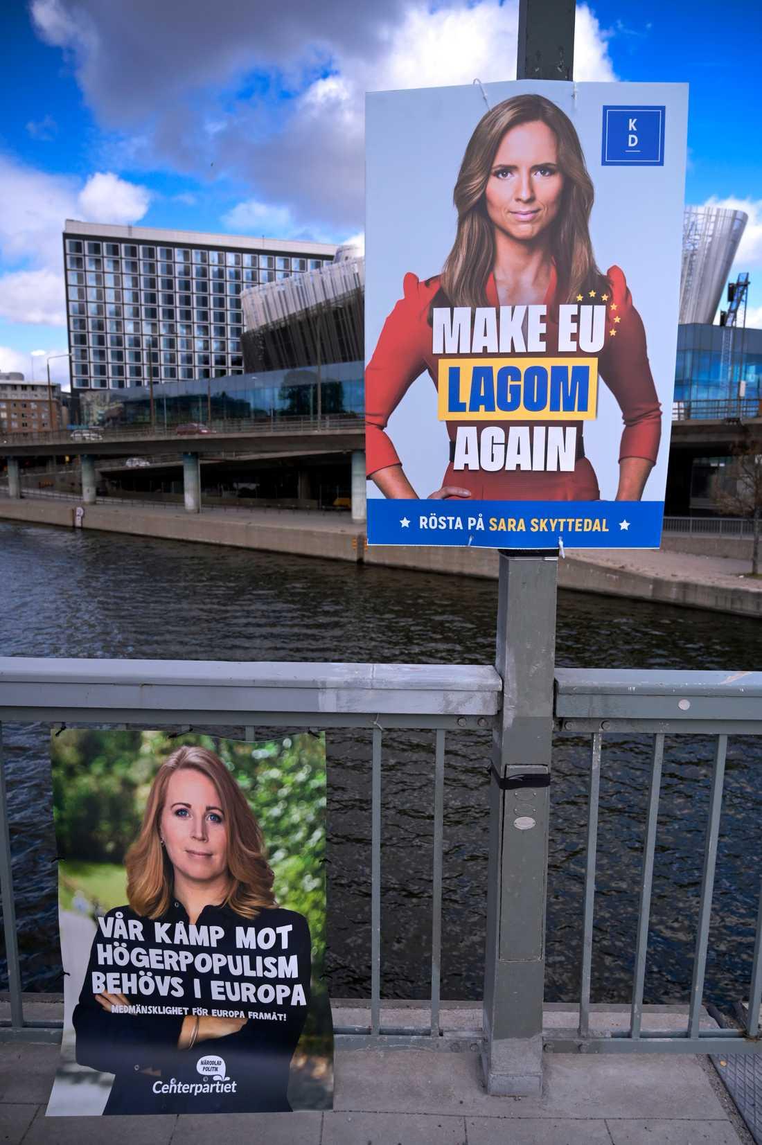 Valaffischer inför Europaparlamentsvalet 2019.
