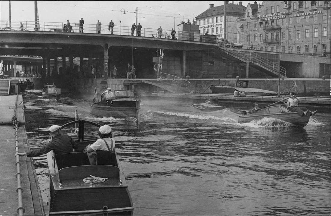 Slussen 1946 Slussning.