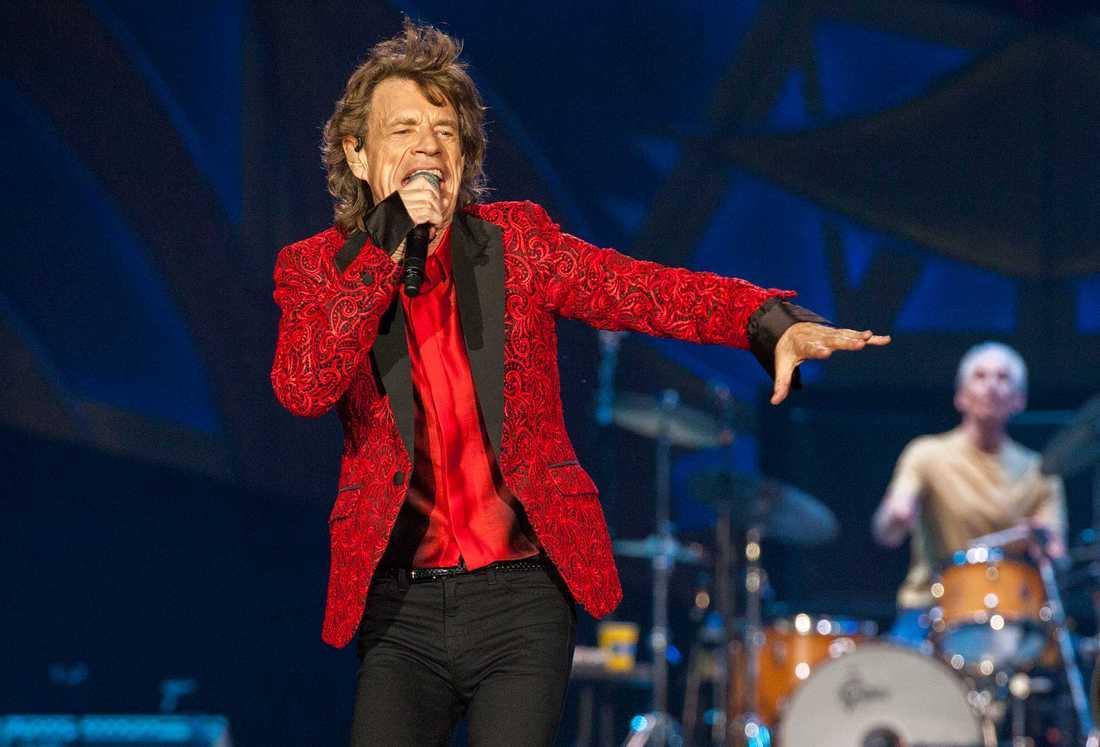Mick Jagger på scen.