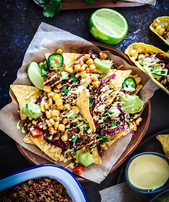 Visst ser det gott ut: Vegetariska tacos till fredagsmys.