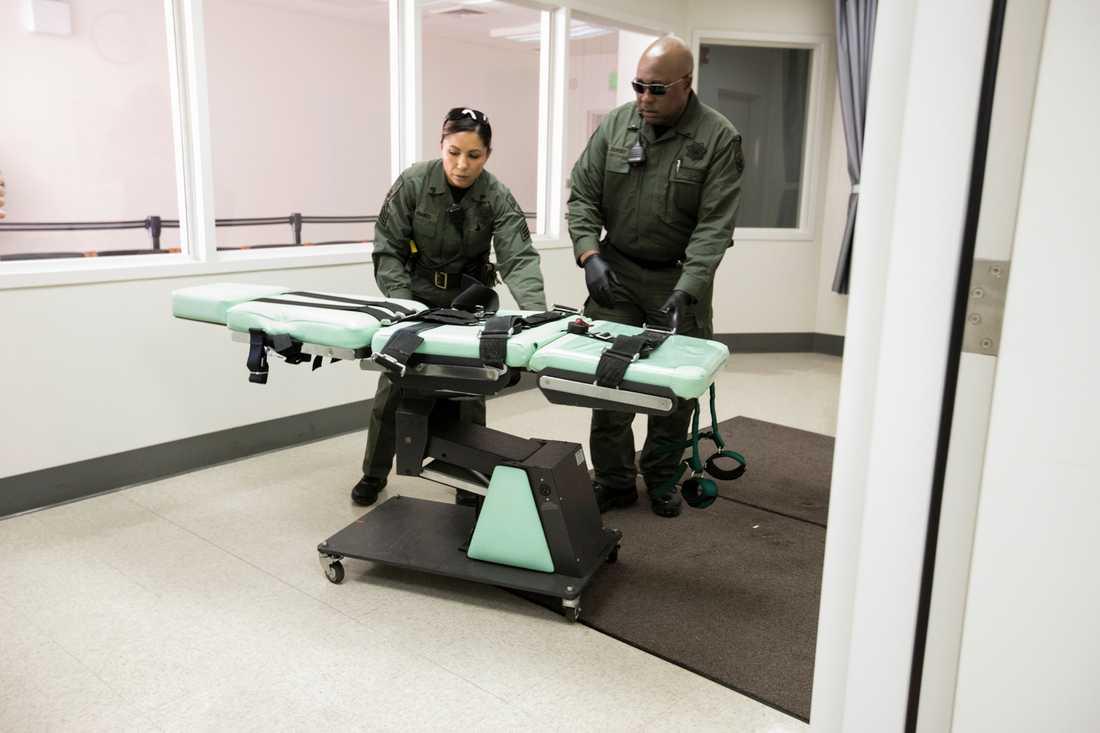 Antalet verkställda dödsstraff var det lägsta på tio år förra året. Här arkivbild från San Quentin-fängelset i USA.