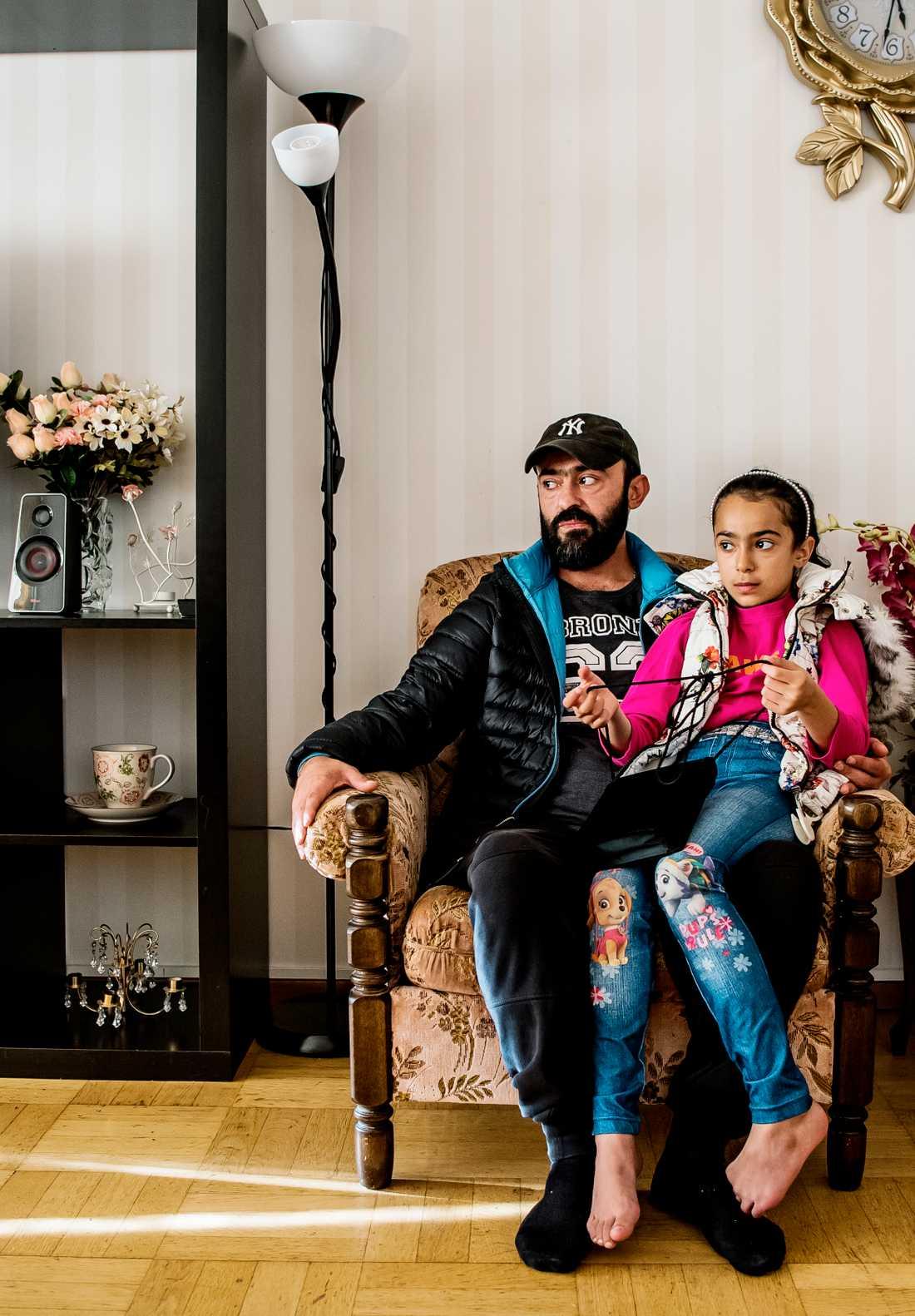 Khalil Antar med dottern Zilal.
