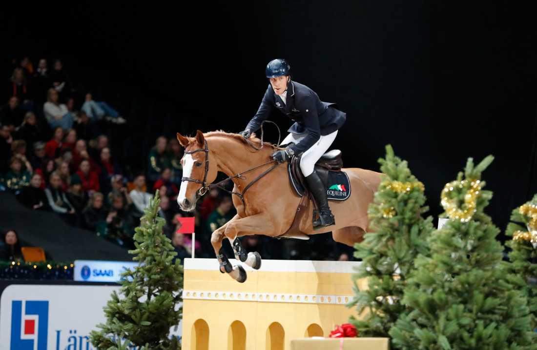 Henrik von Eckermann och Best Boy kom femma individuellt och ligger tillsammans med Evelina Tovek tvåa i lagtävlingen när Global Champions Tour-säsongen inleddes i Doha. Arkivbild.