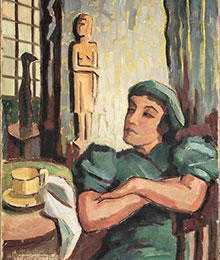 Tavla utan titel av Agnes Cleve, 1945.