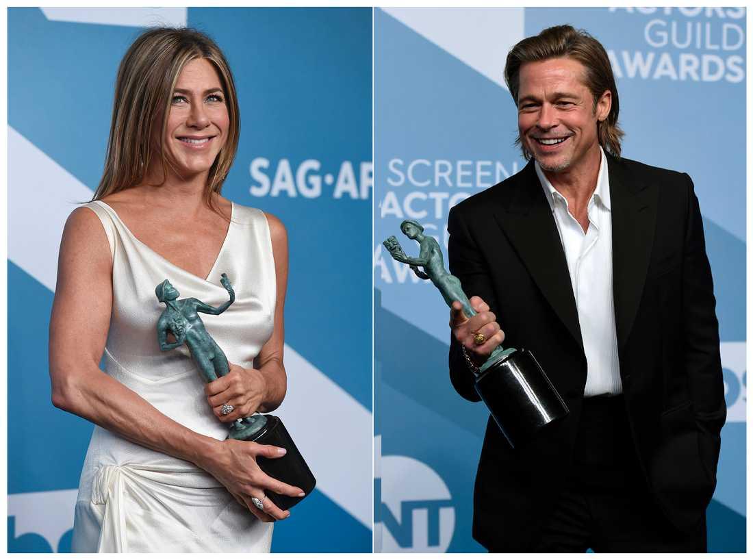 Jennifer Aniston och Brad Pitt.