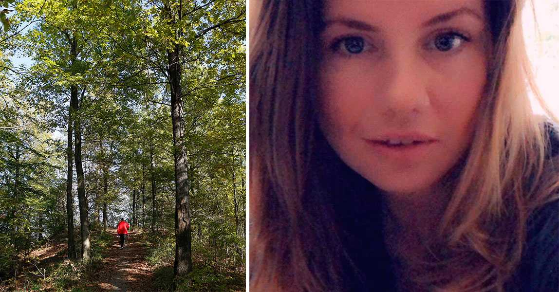 Madeleine, 36, blev jagad av man i motionsspåret