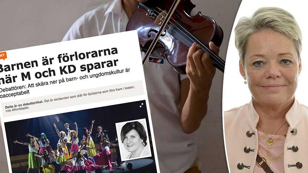 Ingen svensk kommunal kulturskola blir bättre för att den styrs från Kulturdepartementet i Stockholm, skriver Lotta Finstorp, Kulturpolitisk talesperson (M).