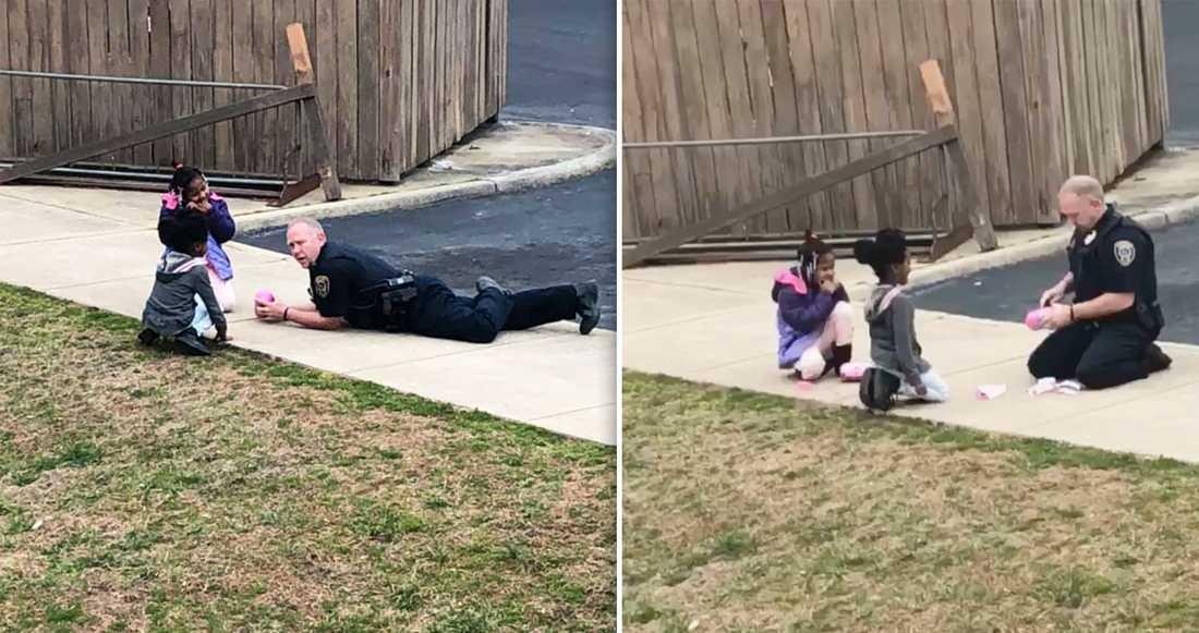 """""""Vem gillar inte att leka med barn?"""", skriver Brandon Fleming på Facebook."""