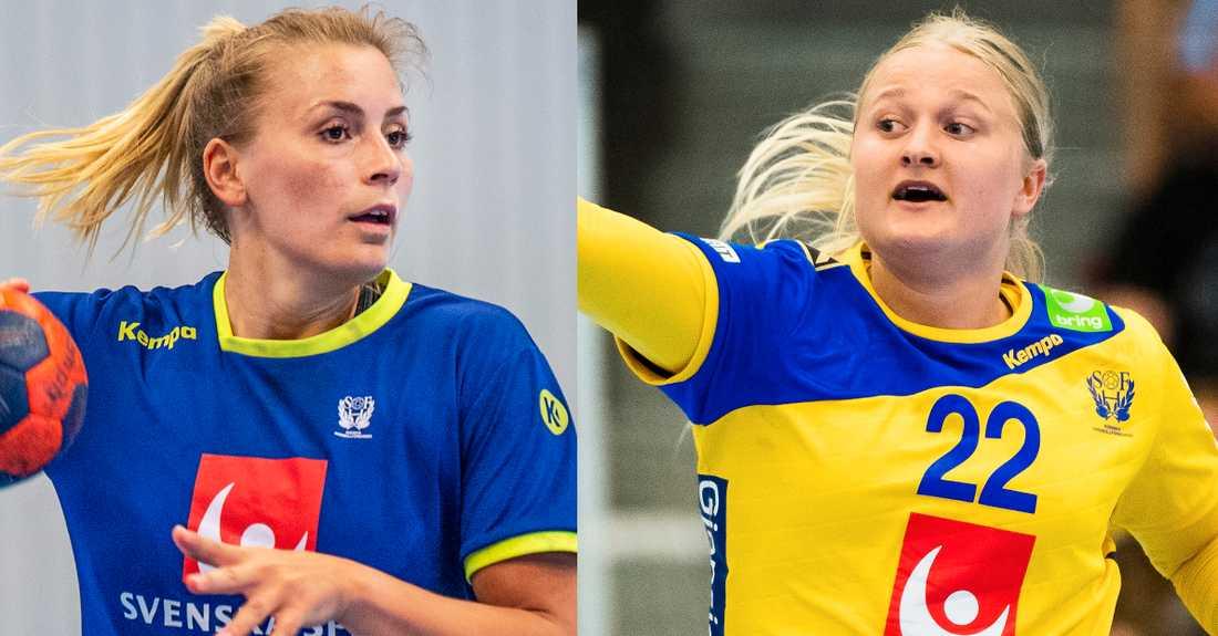 I Brest finns Isabelle Gulldén (till vänster) och Filippa Ihdén. I Köpenhamn finns Hanna Blomstrand (till höger), Jenny Alm, Linn Blohm och Johanna Bundsen.