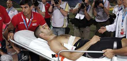 Salim Sdiri träffades av spjutet i sidan av ryggen och var vid medvetande när ambulans kom till platsen.