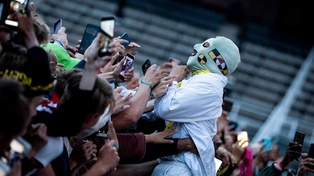 ASAP Rocky träffar fansen på festivalen Smash i Stockholm.