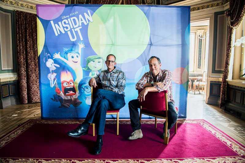 """Pixar-medarbetarna Pete Docter och Jonas Rivera har regisserat och producerat bolagets senaste biosuccé, """"Insidan ut"""". """"Vi har pratat med experter på hjärnan om olika sorters minnen och sådant"""", säger Docter om vetenskapen bakom filmen."""