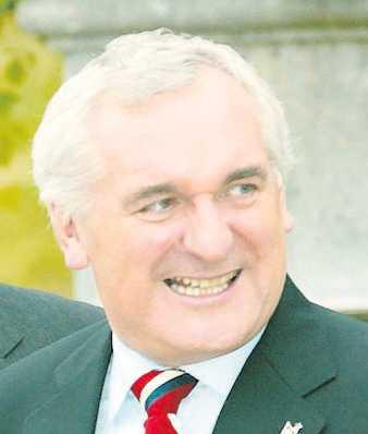 """""""De som säger att vår ekonomiska utveckling inte är hållbar bör begå självmord"""" Bertie Ahearn, fd premiärminister"""