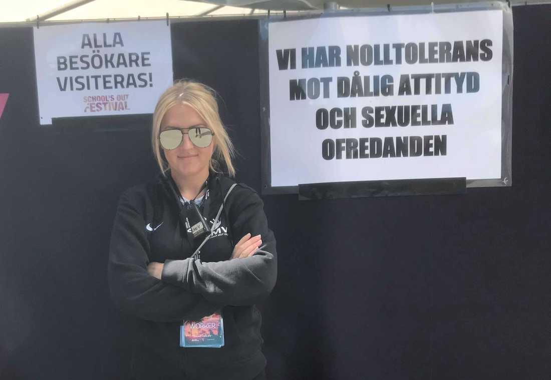Stella Eriksson, i jobb för Ungdomar mot våld
