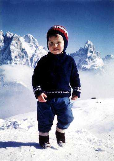 BÖRJADE TIDIGT Redan som treåring fick Göran Kropp smak för bergsklättring. Tillsammans med pappa klättrade han på Kebnekaise och Galdhöpiggen i Norge.